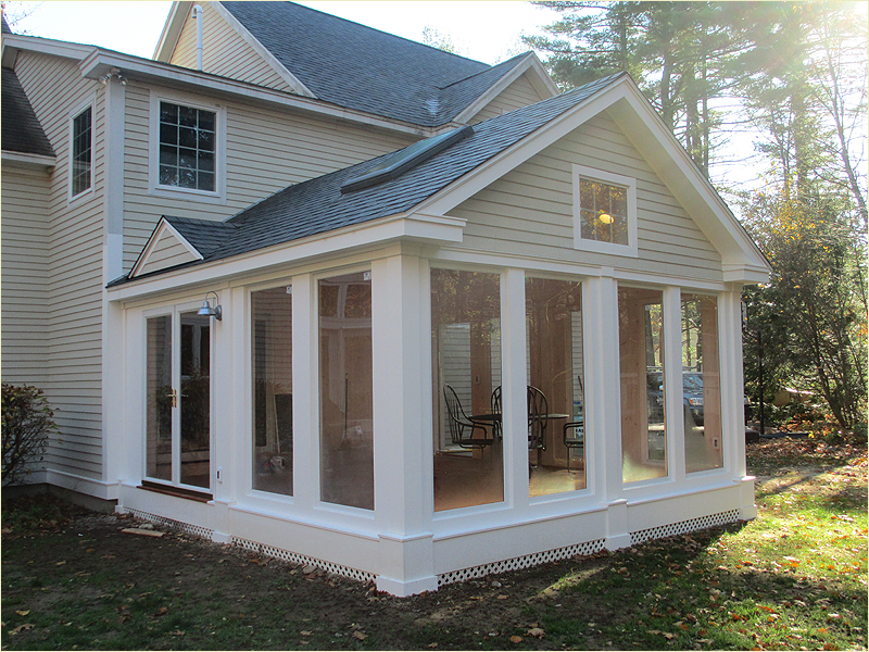Adding a screened porch autumn breeze screened porch plan for Screen room addition plans